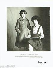 PUBLICITE ADVERTISING 036  1977  Bercher manteau pret à porte savoir-vivre fille