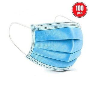 Masque de Protection Bleu Lot 100 Pièces