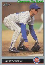 006   GARY SCOTT    CHICAGO CUBS  BASEBALL CARD LEAF 1992