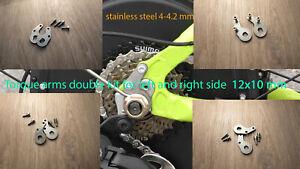 Torque Arm double Kit axle 10x12mm heavy duty Dropout Amplifier E-bike Hub Motor