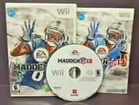 Madden 13 NFL Football Rare Nintendo Wii Wii U Game Complete - 1-4 player game