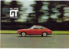 Glas GT 1700 Coupe 1966-67 UK Market Foldout Sales Brochure