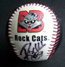 New Britain Rock Cats Minor League Logo Baseball with Mascot Rocky Autograph