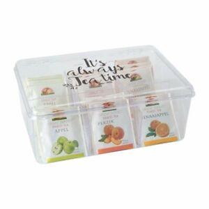 ORION Aufbewahrungsbox für Teebeutel Teebox Teeorganizer mit 6 Fächern