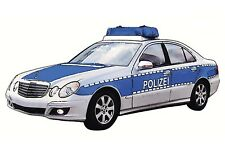 "6 Police Car Blue White Black 2"" X 1"" Waterslide Ceramic Decals Bx"