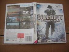Nintendo WII Call OF Duty World At War   jeu