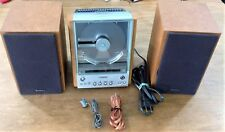 SONY CMT-EX1 COMPONENT RADIO CD SYSTEM w / SPEAKERS Cables FM Antenna