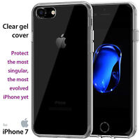 Ultra Thin Crystal Clear Gel Case Cover & Screen Protector for Apple iPhone