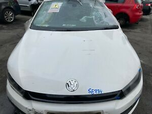 VW SCIROCCO MK3 2010 BONNET PANEL GENUINE CANDY WHITE LB9A *REPAIR*