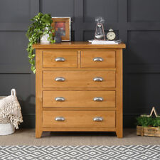 Cheshire Oak 2 Over 3 Drawer Chest - Bedroom 5 Drawers Storage Furniture - AD09