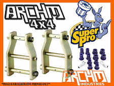 TOYOTA HILUX KUN26R 2005-ON EXTENDED GREASABLE ANTI-INVERSION SHACKLES & BUSHES