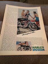 Vintage Magazine Ad Harley Davidson Motorcycle 1967 Print