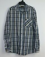 Jack Stone Big Men's Long Sleeve Button Up Check Shirt Size 3XL