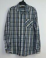 Jack Stone Big Men's Long Sleeve Button Up Check Shirt Size 3XL