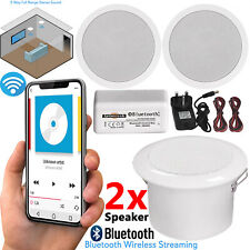 More details for 30w wireless bluetooth ceiling speakers and amplifier system bathroom or kitchen