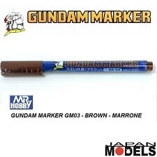 GUNDAM MARKER GM03 200 Brown - Pennarello Marrone Punta Fina Bandai Mr Hobby