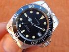 Vintage Boy's/Mid-Size SANDOZ Diver's Professional 100M Watch 1817-Z Black Sub