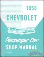 CHEVROLET 1958 SHOP MANUAL SERVICE REPAIR BOOK RESTORATION CHILTON HAYNES GUIDE
