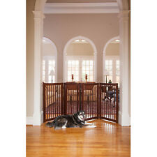 Walk Through Dog Gate Indoor Pet Cat Fence Baby Toddler Safety Stairs Barrier