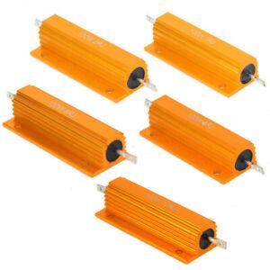 100W Power Resistor Aluminum Shell Case Wirewound Resistors 1R/2R/4R/8R/10R AU