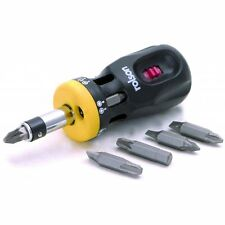 Rolson 12 in 1 Stubby Rachet Screwdriver - Forward & Reverse Locking Action