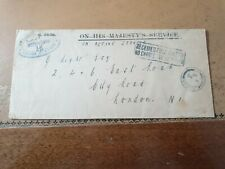 Wei hai WEI 1918 commander china station cover to London OHMS