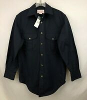 Filson 12005 Navy Antique Tin Cloth Shirt ~ Size Small NWT