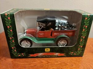 Ertl 1918 Ford Run-about Pickup Truck John Deere Meryy Christmas 1997