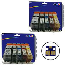 2 Sets of Compatible Printer Ink Cartridges for Canon CLI-521 / PGI-520 Range