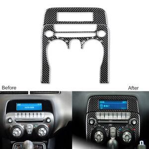 2Pcs For Chevrolet Camaro 2010-2011 Carbon Fiber Console Air Vent Outlet Cover