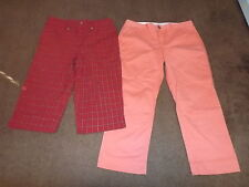 Lot of 2 ladies capris size 8