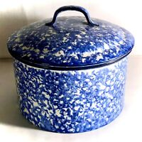 """Stangl Blue Town And Country 7"""" 3 Quart Round Covered Casserole"""