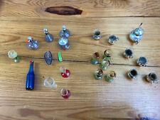 Konvolut alte Minitaur Gefäße aus Glas, Spielzeug Deko (G)15870