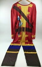 Tangerine CAPTAIN MORGAN Costume One Piece Jump Suit One Size Fun Party Drinking