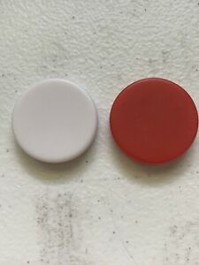 Backgammon Replacement Part Pieces Red And White Small 3 cm Lot 2