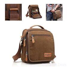 Ibagbar Men's Vintage Look Canvas Shoulder Everyday Bag Brown