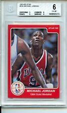 1984-85 Star #195 Michael Jordan Rookie Card BGS 6 1984 Olympics
