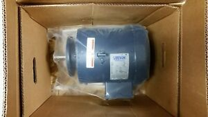 "Leeson 3HP 3PH 1740RPM 460V 1.10"" / 28mm SHAFT NEW ELECTRIC MOTOR 132085.00"