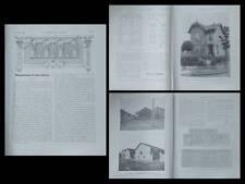 LA CONSTRUCTION MODERNE n°28 1925 VILLENEUVE LE ROI, HBM, FERME CHAMPAGNE, VITAL