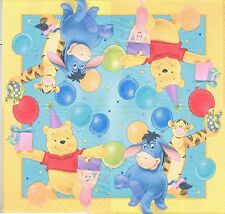 3 Serviettes en papier Winnie L'ourson et ses amis Paper Napkins Pooh Cartoon