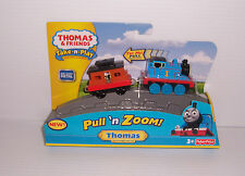 FISHER PRICE THOMAS & FRIENDS PULL 'N ZOOM THOMAS DIE-CAST TRAIN ENGINE NEW!