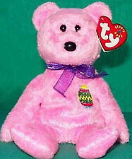 TY Beanie Baby EGGS #1 2000 Easter Pink Furry TEDDY BEAR MWMT Retired MINT NEW!