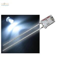 500 LED 5mm concave weiß mit Zubehör weiße konkav LEDs kaltweiß white cold blanc