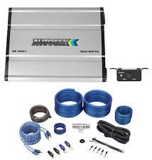 Autotek SS1200.1 1200 Watt Mono Class D Car Amplifier 2 Ohm+Amp Kit+Bass Remote