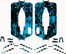 Traxxas T-maxx 3.3 Extended Full Protector Kit Dark Blue Flames TRA5122X