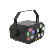 QTX Gobo Starwash LED DJ Disco 3-in-1 Wash Laser Lighting Effect With Remote