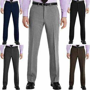 New Mens Trousers Formal Smart Casual Office Trousers Business Dress Pants