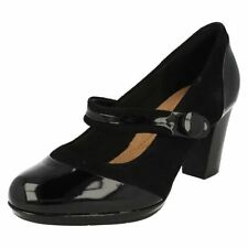 Mary Janes Wide (E) Block 100% Leather Upper Heels for Women