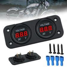 Dc 12v24v Dual Led Digital Volt Meter Panel Car Boat Marine Battery Monitor