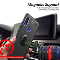 For Xiaomi Redmi Note 6 7 Shockproof Magnetic Hybrid Ring Holder TPU+Metal Cover